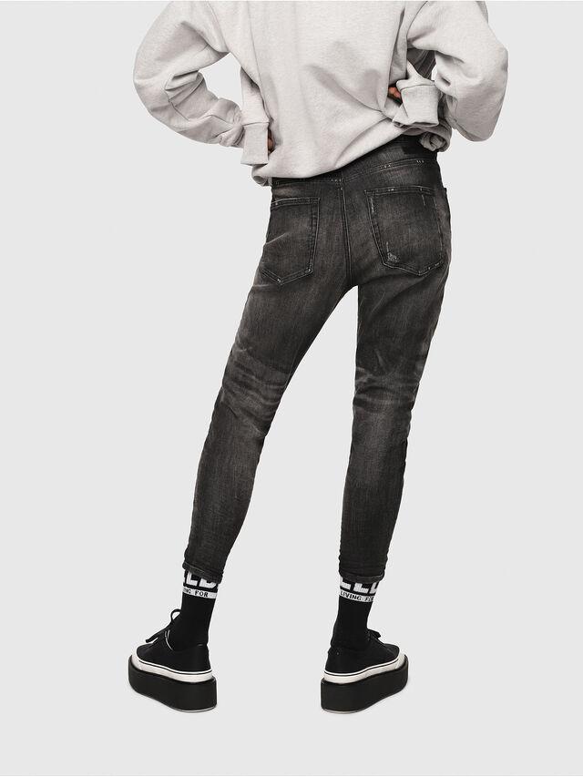 Diesel - Candys JoggJeans 0077S, Black/Dark grey - Jeans - Image 2
