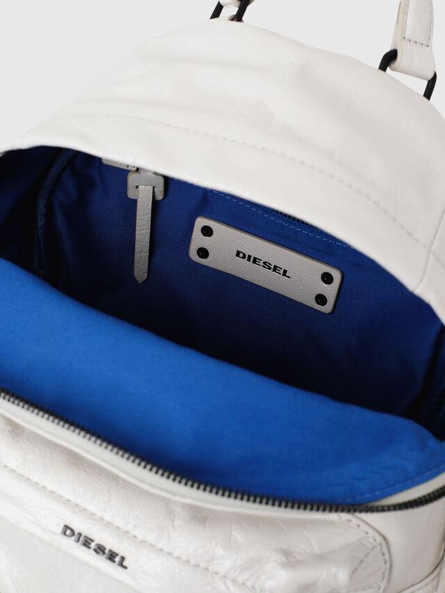 Diesel - LE-ZIPPER BACKPACK, White - Backpacks - Image 4