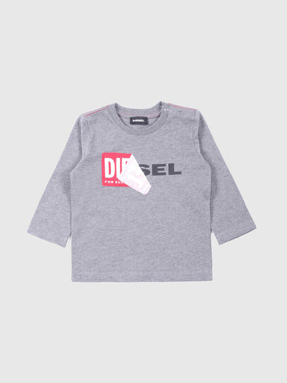 Diesel - TOQUEB, Grey - T-shirts and Tops - Image 1
