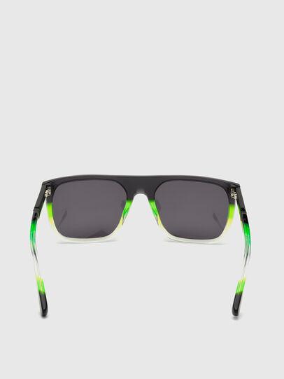 Diesel - DL0299, Black/Green - Sunglasses - Image 4