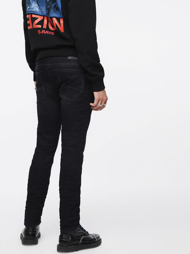 Diesel - Thommer JoggJeans 069CM, Black/Dark grey - Jeans - Image 3