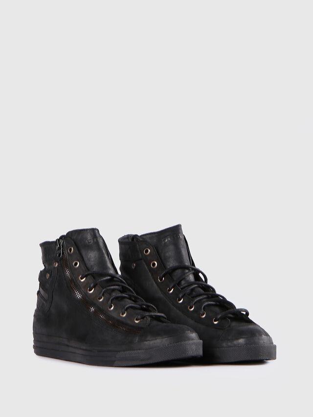 Diesel - EXPO-ZIP, Black Leather - Sneakers - Image 2