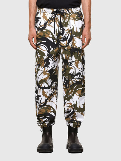 Diesel - P-TRIBE, White/Green - Pants - Image 1