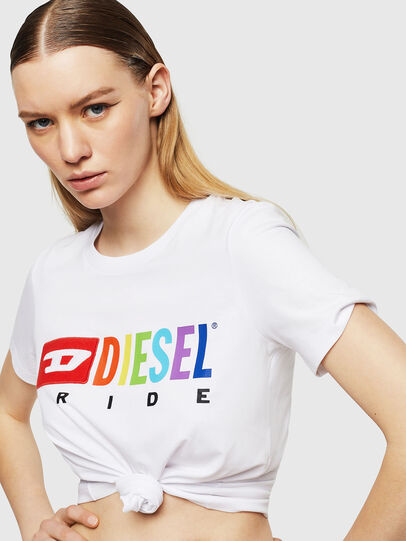 Diesel - UFTEE-SILY-INT, White - T-Shirts - Image 3