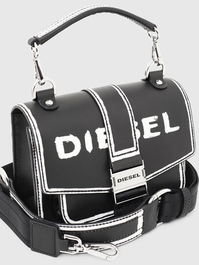 Diesel - MISS-MATCH CROSSBODY, Black/White - Crossbody Bags - Image 4