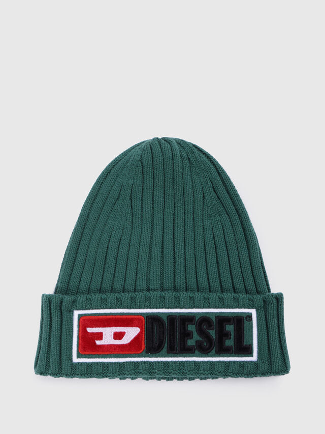Diesel - K-CODER-B, Green - Caps, Hats and Gloves - Image 1
