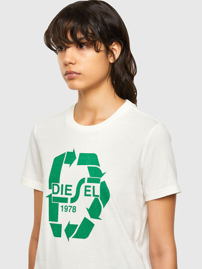 Diesel - T-SILY-V32, White - T-Shirts - Image 3