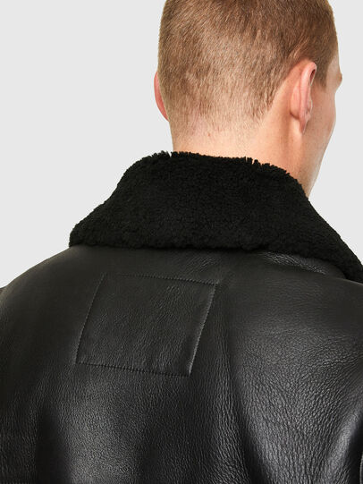 Diesel - L-ARNOLD, Black - Leather jackets - Image 4