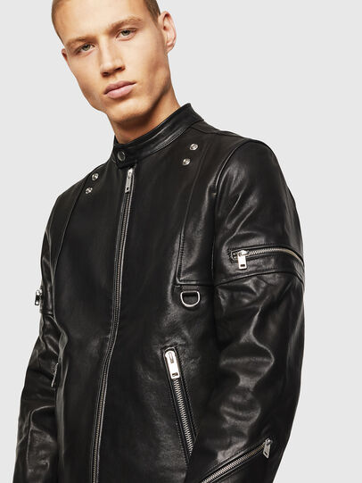 Diesel - L-TOVMAS, Black - Leather jackets - Image 3