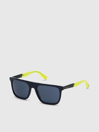Diesel - DL0299, Blue/Yellow - Sunglasses - Image 2