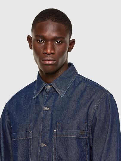 Diesel - D-RAPP, Dark Blue - Denim Shirts - Image 3