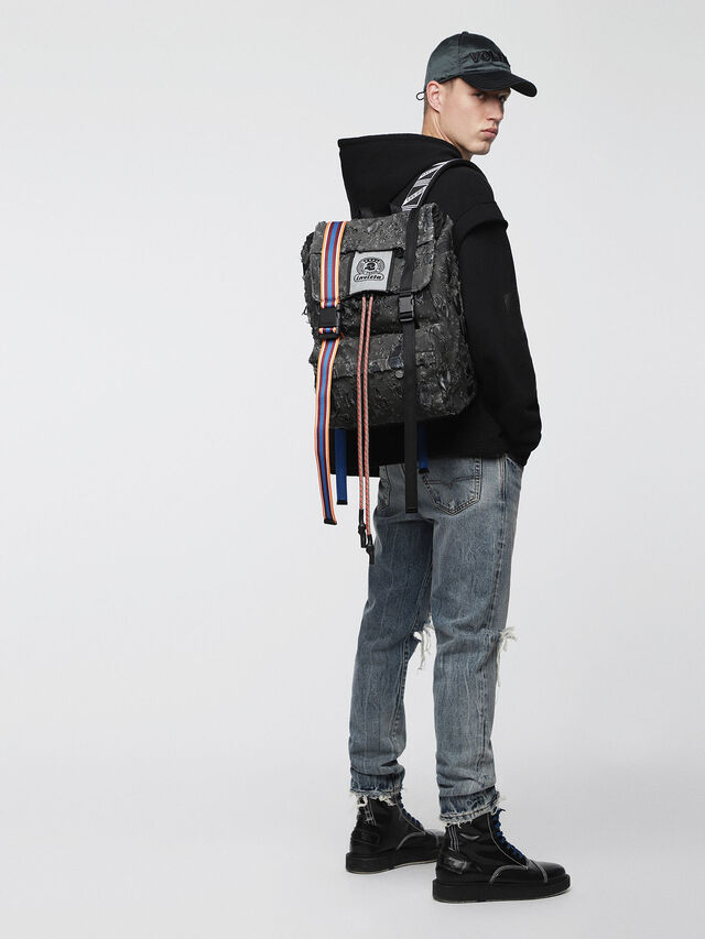 Diesel - M-INVICOLAB BACK III, Black - Backpacks - Image 4
