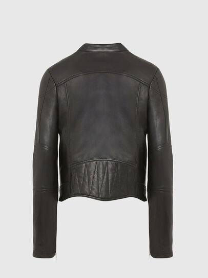 Diesel - L-SUZA, Black - Leather jackets - Image 2
