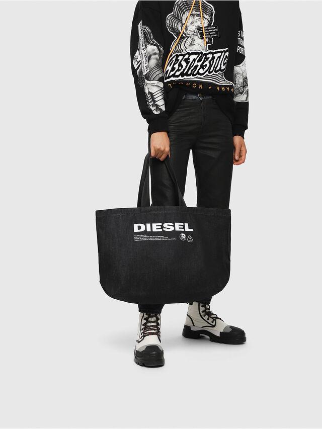 Diesel - D-THISBAG SHOPPER L, Blue Jeans - Shopping and Shoulder Bags - Image 5