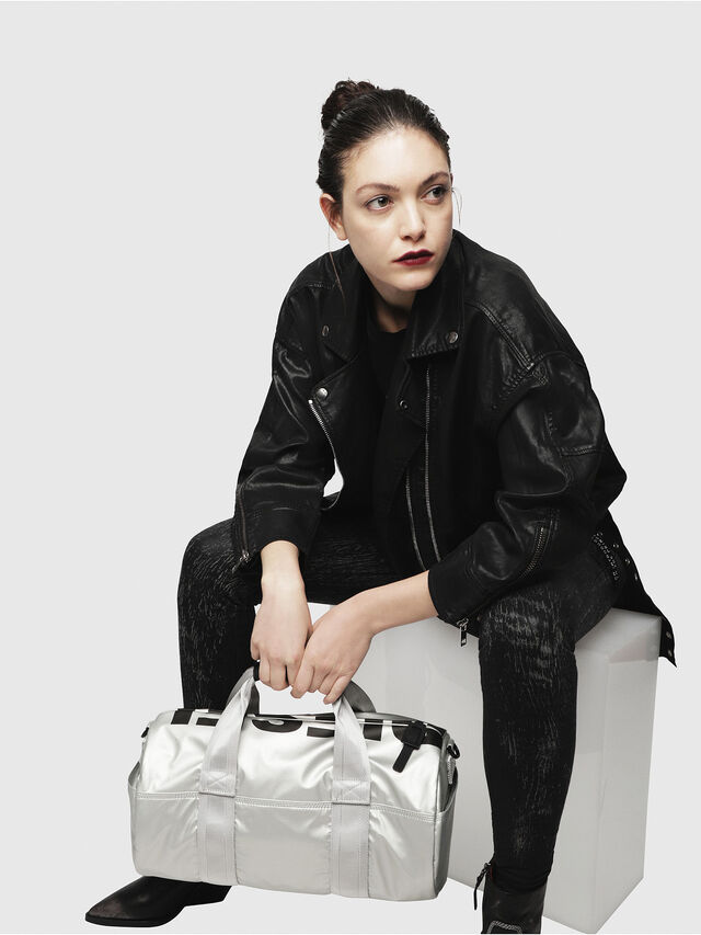 Diesel - F-BOLD DUFFLE FL, Silver - Travel Bags - Image 5