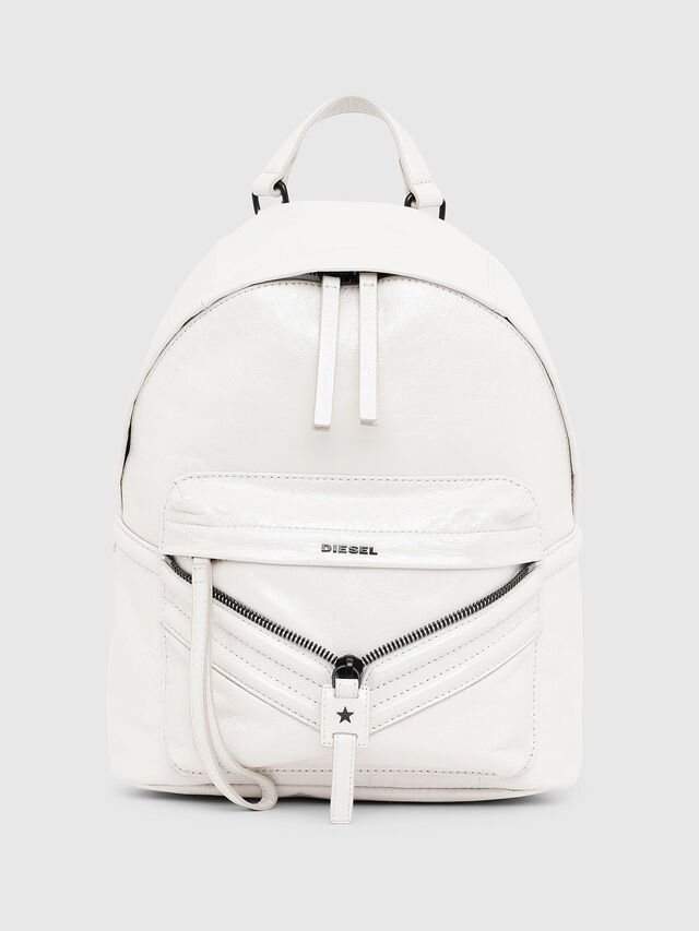 Diesel - LE-ZIPPER BACKPACK, White - Backpacks - Image 1