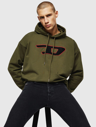 Diesel - S-DIVISION-D, Military Green - Sweaters - Image 3