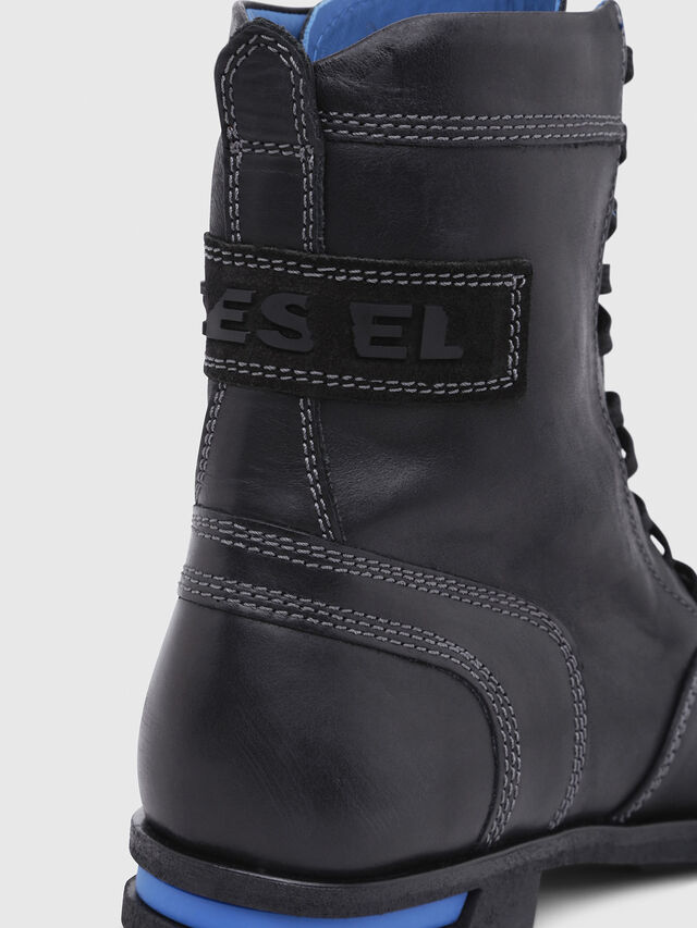 Diesel - D-OGTAG OXB LACE W, Opaque Black - Ankle Boots - Image 4