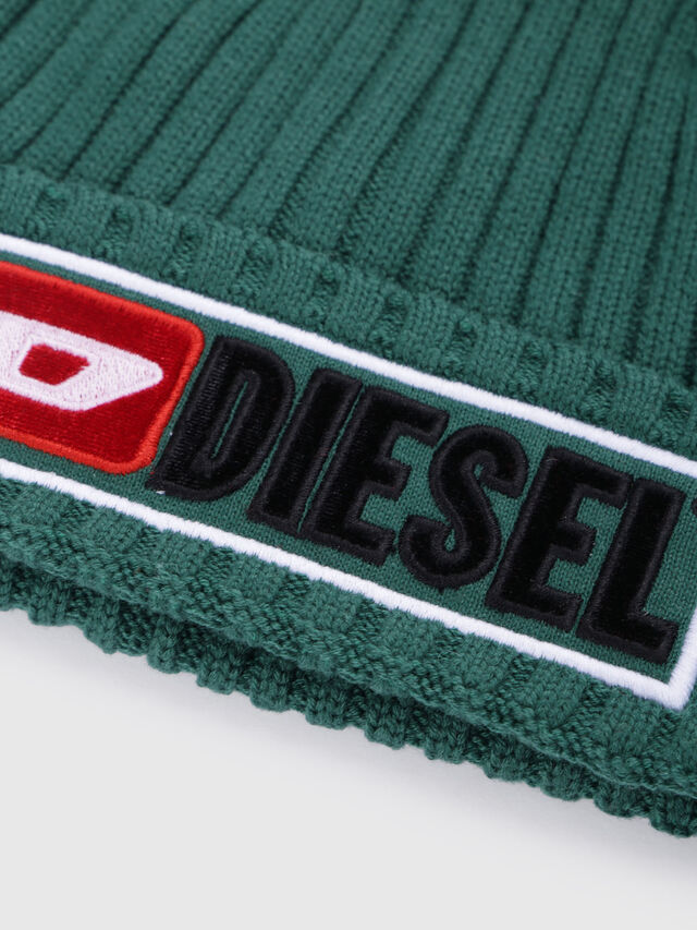 Diesel - K-CODER-B, Green - Caps, Hats and Gloves - Image 3