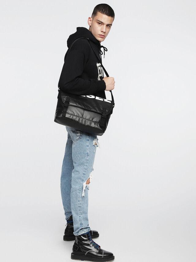 Diesel - F-BOLD MESSENGER, Black - Crossbody Bags - Image 4
