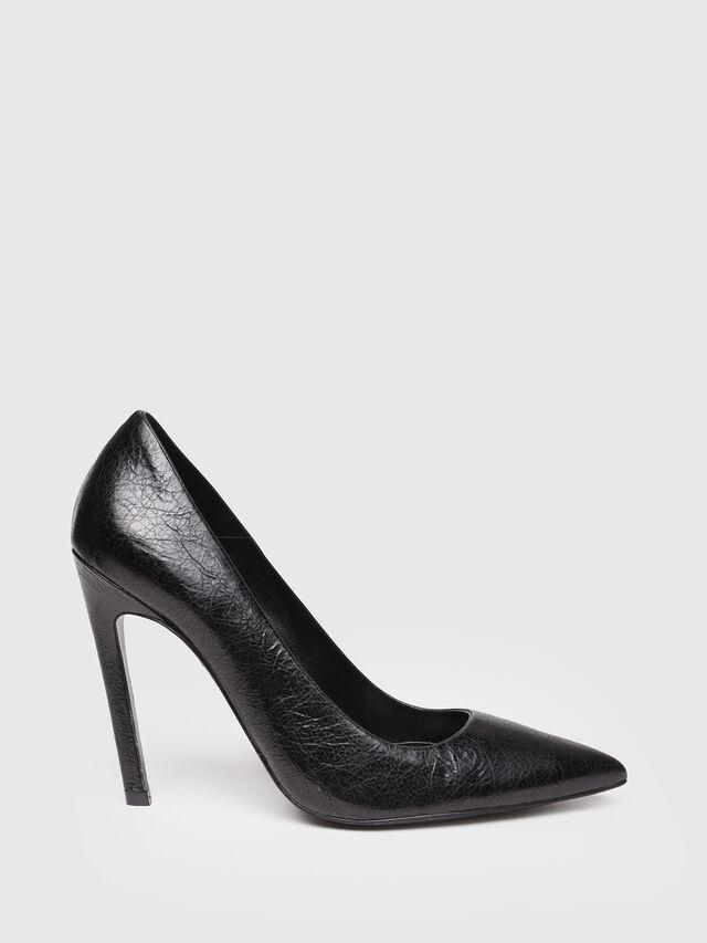 Diesel - D-SLANTY HP, Black Leather - Heels - Image 1