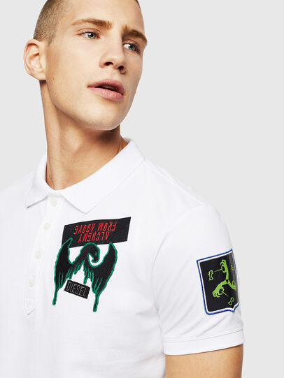 Diesel - T-POLO-PATCHES, White - Polos - Image 2