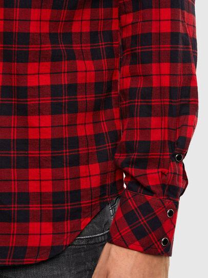 Diesel - S-EAST-LONG-CHK, Black/Red - Shirts - Image 4