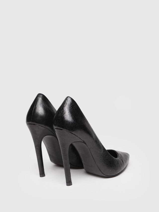 Diesel - D-SLANTY HP, Black Leather - Heels - Image 3