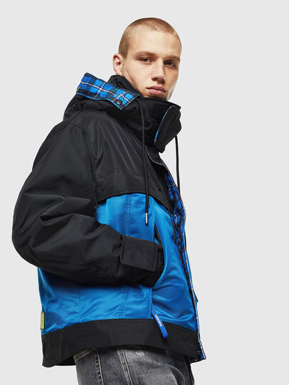Diesel - W-HELBERT, Black/Blue - Winter Jackets - Image 6