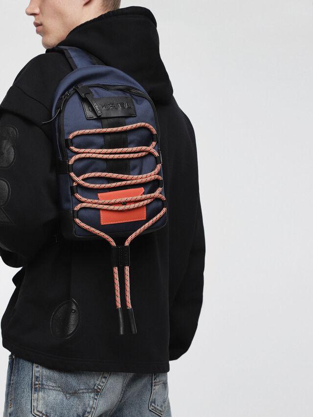 Diesel - M-CAGE MONO, Blue/Orange - Backpacks - Image 4