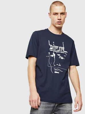 T-JUST-J14, Blue/White - T-Shirts