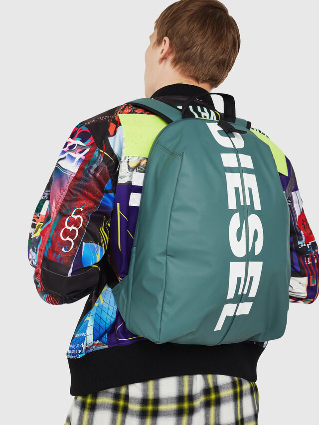 Diesel - F-BOLD BACK, Green/Grey - Backpacks - Image 6