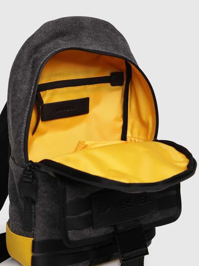 Diesel - M-CAGE MONO, Black/Yellow - Backpacks - Image 3