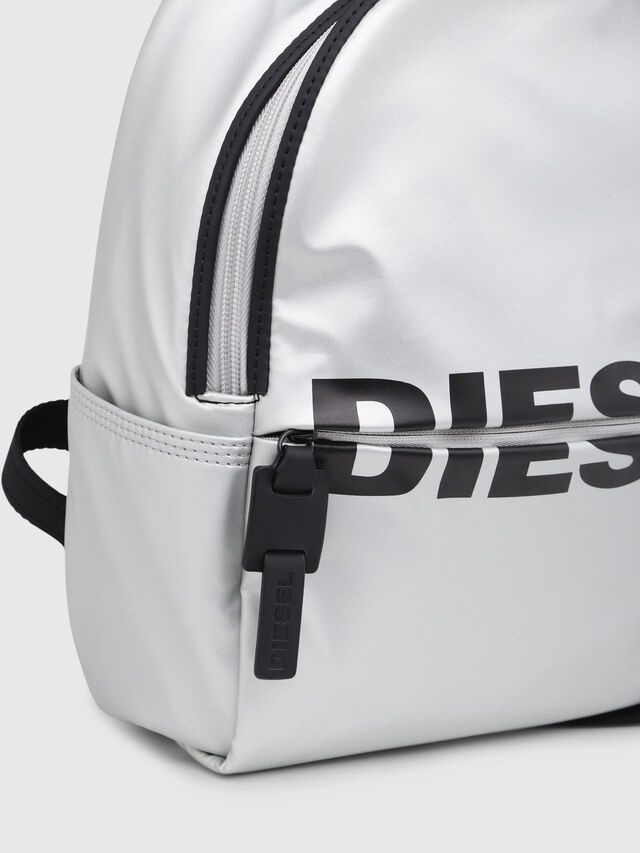 Diesel - F-BOLD BACK FL, Silver - Backpacks - Image 4