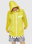 S-GIM-HOOD-ZIP, Yellow Fluo - Sweaters