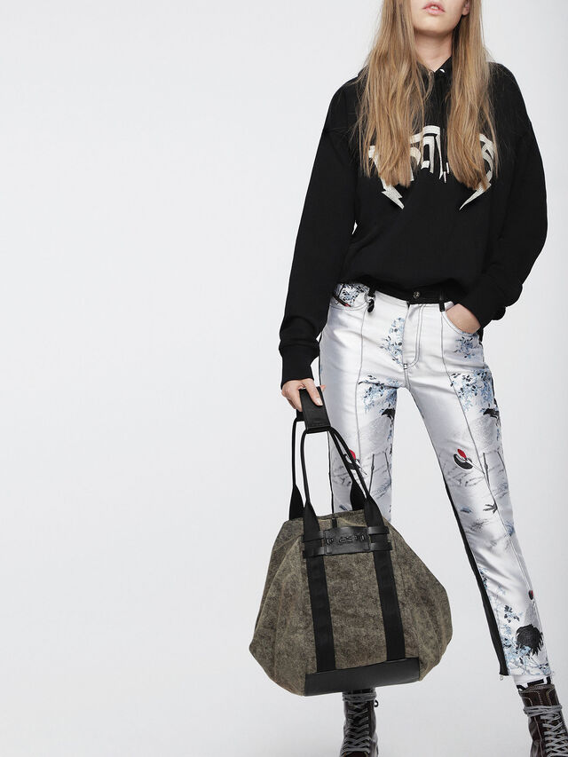 Diesel - D-CAGE SHOPPER, Grey Jeans - Shopping and Shoulder Bags - Image 5