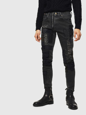 D-Strukt 0093P, Black/Dark grey - Jeans