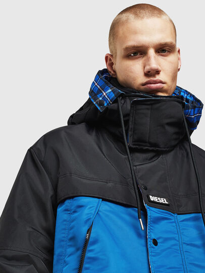 Diesel - W-HELBERT, Black/Blue - Winter Jackets - Image 5