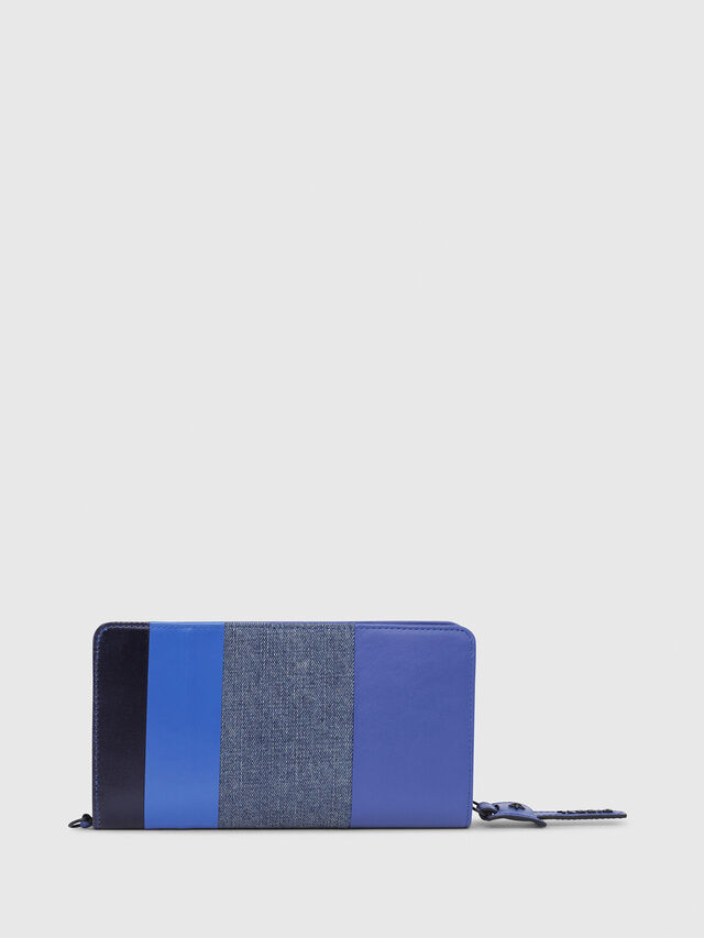 Diesel - NEW GRANATO LOOP, Blue - Zip-Round Wallets - Image 2