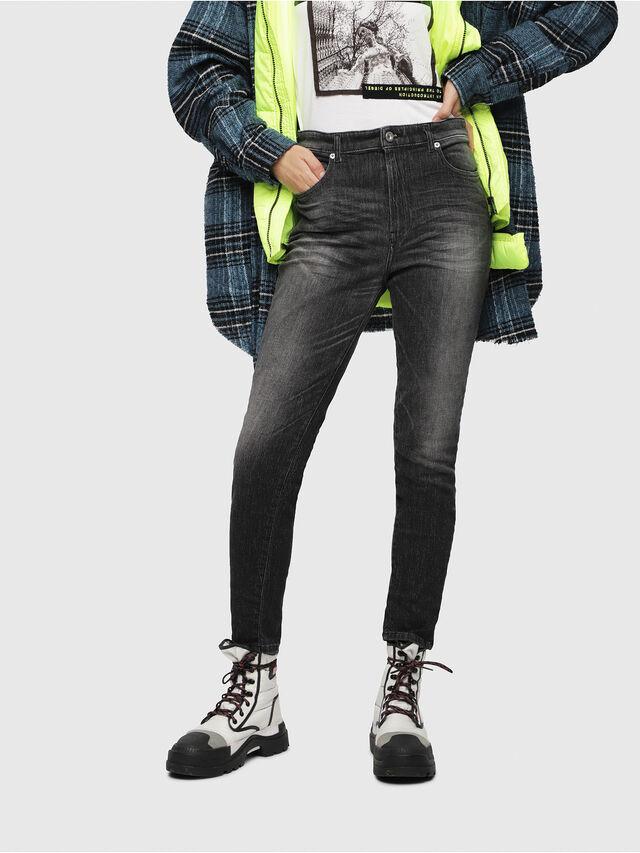 Diesel - Babhila High 089AA, Black/Dark grey - Jeans - Image 1