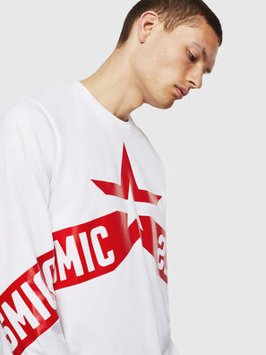 T-JUST-LS-STAR, White - T-Shirts