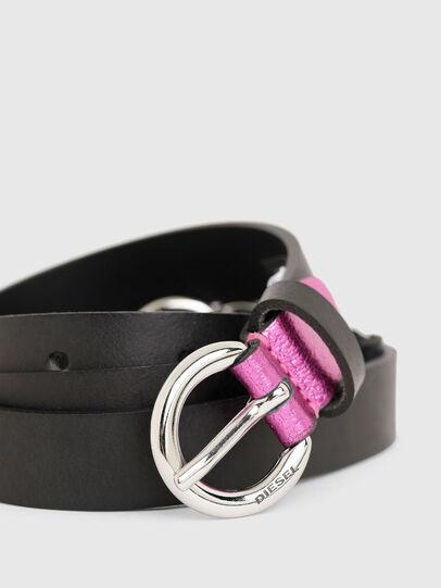 Diesel - B-OLIMP, Black/Pink - Belts - Image 2