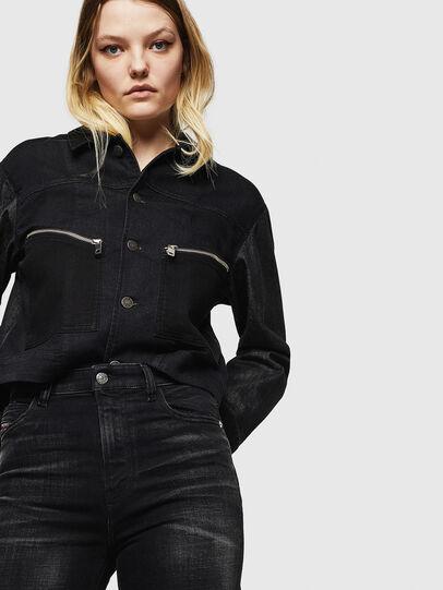 Diesel - Babhila High 0092B, Black/Dark grey - Jeans - Image 3