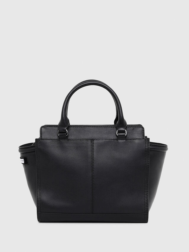 Diesel - LE-ZIPPER SATCHEL S, Black - Shopping and Shoulder Bags - Image 2