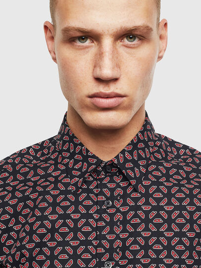 Diesel - S-CLES-D, Black/Red - Shirts - Image 3