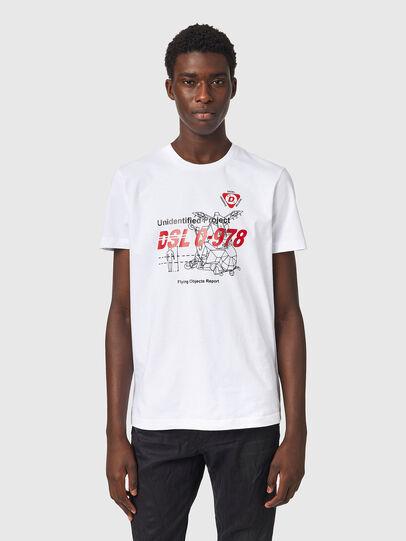 Diesel - T-DIEGOS-B82, White - T-Shirts - Image 1