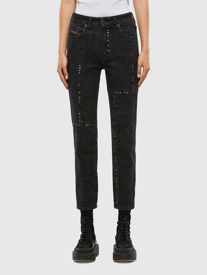 Diesel - D-Joy JoggJeans 009KY, Black/Dark grey - Jeans - Image 1