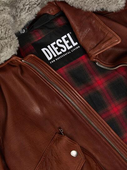 Diesel - L-STEPHEN, Brown - Leather jackets - Image 3