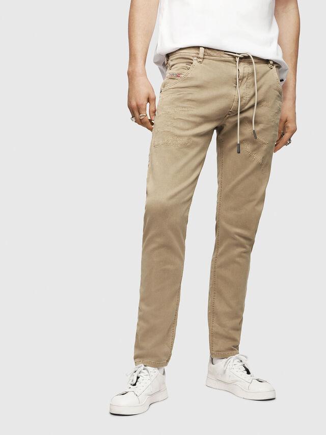 Diesel - Krooley JoggJeans 069CJ, Beige - Jeans - Image 1