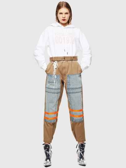 Diesel - F-ANG-HOOD-J1, White - Sweaters - Image 5